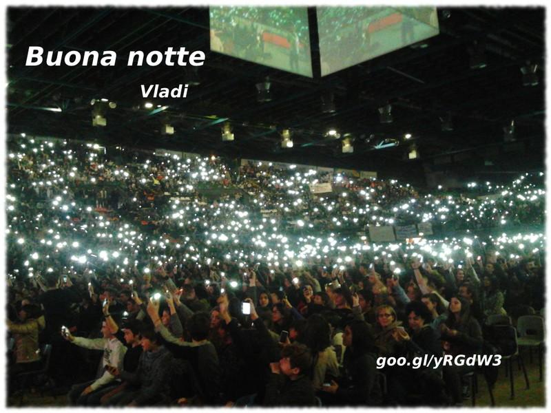 10 000 persone, Nelson Mandela Forum, 10 dicembre 2013